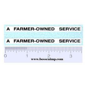 Decal A Farmer-Owned Service (Pair)