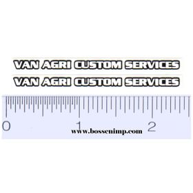 Decal Van Agri Custom Services (Pair)