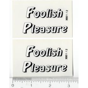 Decal 1/16 Foolish Pleasure