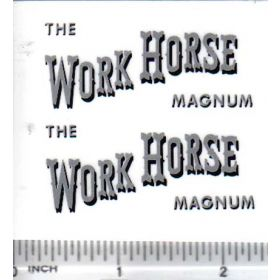 Decal 1/16 The Work Horse Magnum
