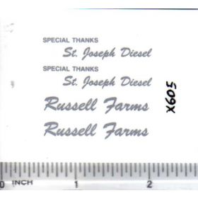Decal 1/16 St. Joseph Diesel Russel Farms