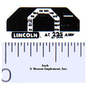 Decal 1/16 Lincoln Welder Panel