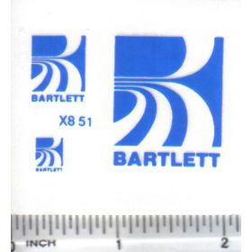 Decal 1/64 Bartlett Set - Blue