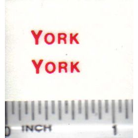 Decal York Grain Bin 1/2in.