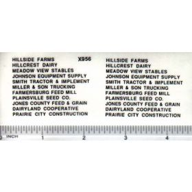 Decal Ag Businesses Set - Black 3/32 inch tall