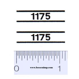 Decal 1/16 Case 1175 Model Numbers (Pair)
