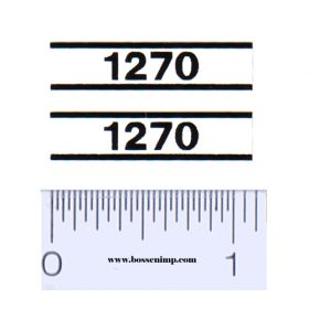 Decal 1/16 Case 1270 Model Numbers (Pair)