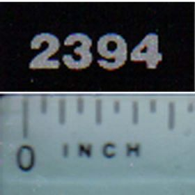 Decal 1/16 Case IH 2394 Model Numbers (silver on black)