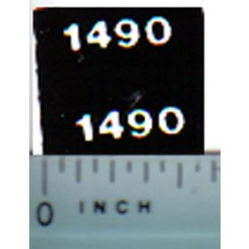 Decal 1/32 Case 1490 Model Numbers
