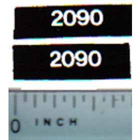 Decal 1/32 Case 2090 Model Numbers
