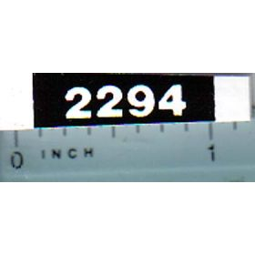 Decal 1/16 Case 2294 Model Numbers (white on black)