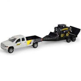 1/64 Dodge Pickup Ram and trailer with NH Skid Loader
