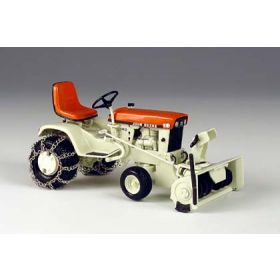 1/16 John Deere 140 Orange Patio Tractor with Snow Blower