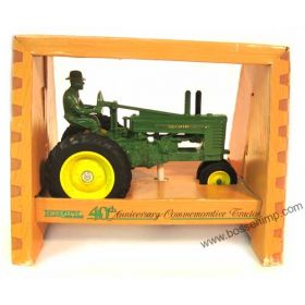 1/16 John Deere A NF Styled on rubber with man 40th Anniversary
