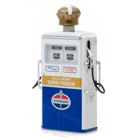 "1/18 Gas Pump Wayne 350 Twin Standard Oil ""Gold Crown Supr Premium"""