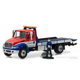 1/64 International Durastar 4400 Flatbed Truck with man BFGoodrich
