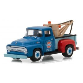 1/64 Ford Tow Truck F-100 1956 Gulf Oil Mel's Garage Series 4