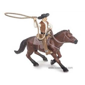 1/16 Horse Roping Horse with Cowboy