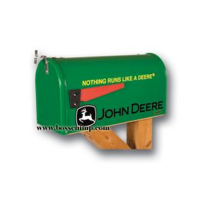 Mailbox Rural Style John Deere 'Nothing Runs Like a Deere'