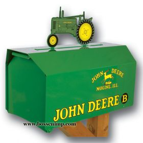 Mailbox Estate Style John Deere with B Tractor Topper