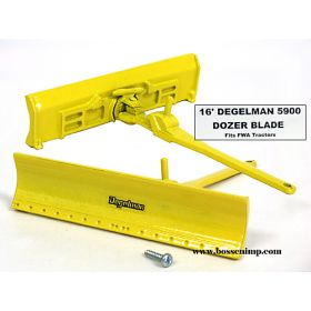 1/64 Blade Degelman 5900 16' without Silage Guard, yellow