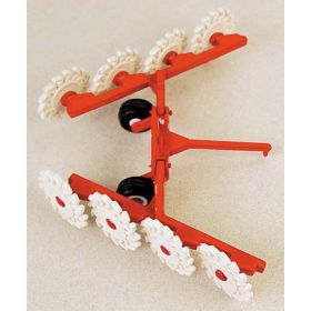 1/64 Hay Rake V-Rack, pull type with 8 wheels