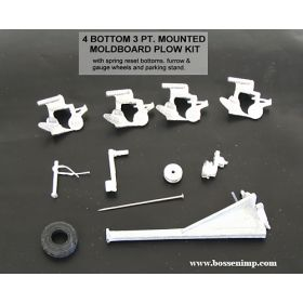 1/64 Plow 4 Bottom 3 Point Mounted Kit