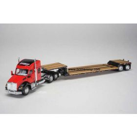 1/64 Kenworth T880 Semi with lowboy trailer Case IH