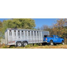 1/64 Trailer Wilson Ranch Hand 18' Livestock Assembled