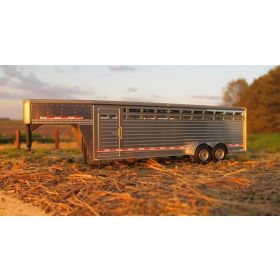 1/64 Cattle Trailer 24' Slat Side w/ rounded fenders assembled