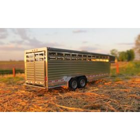 1/64 Cattle Trailer 24' Slat Side w/ angled fenders assembled