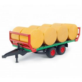 1/16 Bale Mover green w/8 round bales