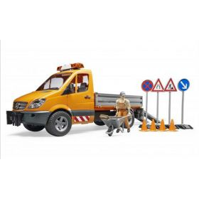 1/16 Mercedes Benz Sprinter Municipal Truck w/Worker & Accessories
