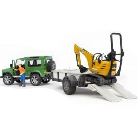 1/16 Land Rover Defender Station Wagon with JCB Hoe & Trailer