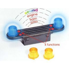 1/16 Accessory Set, Light and Sound Module for Bruder Trucks