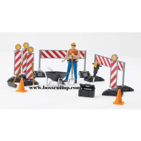 1/16 Accessory Set Construction Site Barricades w/man