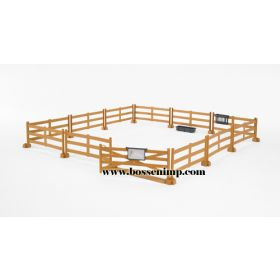1/16 Accessory Set Pasture Fence brown