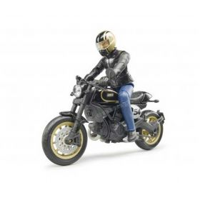 1/16 Scrambler Ducati Cafe Racer with Rider