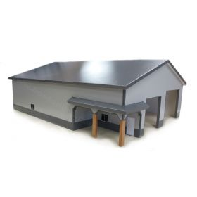 1/64 Machine Shed 60 X 80 with porch Dark Gray & Gray