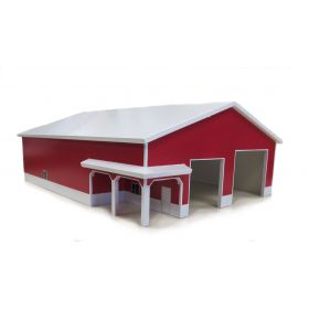 1/64 Machine Shed 60 X 80 with porch White & Red