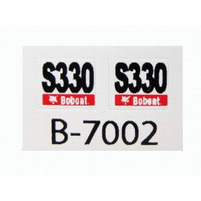 Decal 1/50 Bobcat S-330 sside panels