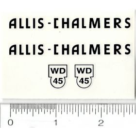 Decal 1/08 Allis Chalmers WD-45 Set