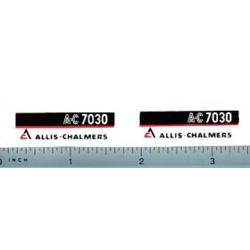 Decal 1/16 Allis Chalmers 7030 Model numbers (maroon belly)