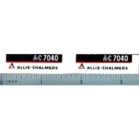 Decal 1/16 Allis Chalmers 7040 Model Numbers (maroon belly)