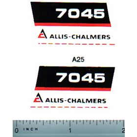 Decal 1/16 Allis Chalmers 7045 Model Numbers (black belly)