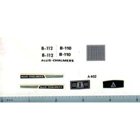 Decal 1/16 Allis Chalmers B-110 or B-112 Set