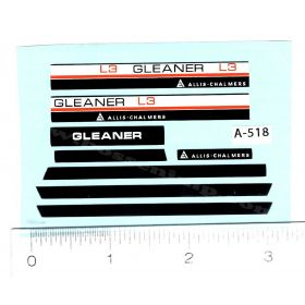 Decal 1/32 Allis Chalmers Gleaner L3 Set
