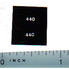 Decal 1/64 Allis Chalmers 440 Model Numbers (White on Black)