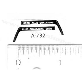 Decal 1/64 Allis Chalmers 6070 Set