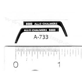 Decal 1/64 Allis Chalmers 6080 Set